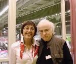 Mariana Gorczyca si Norman Manea la Goteborg _ http://uniuneascriitorilor-filialacluj.ro/Poze/carti/DSCI0057.JPG